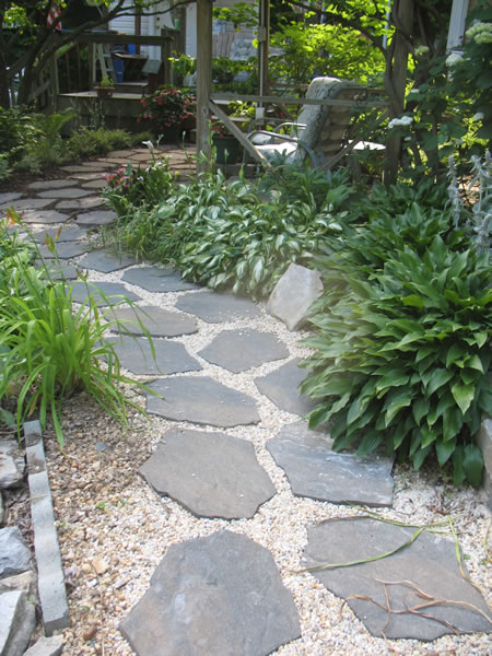 Sidewalk And Patio Redesign on rustic stone home design